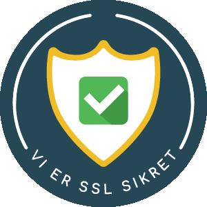 Vi er SSL Sikret